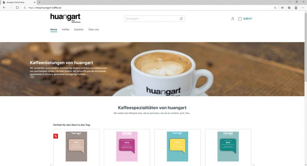 huangart Kaffee Online-Shop - Startseite