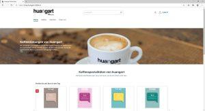 Neuer Online-Shop für huangart – feine Kaffeeröstung